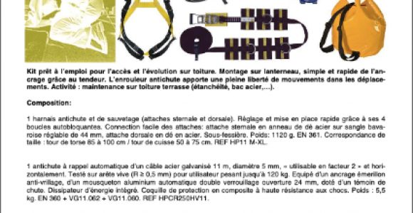 KIT TOIT 5A - Activité : évolution sur toiture
